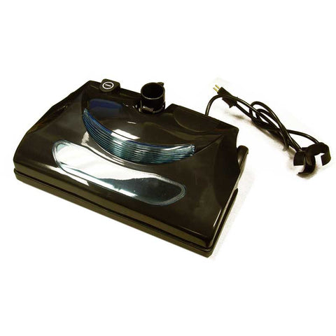 Central Vacuum Cleaner Power Nozzle with Headlight has a gear driven brush bar