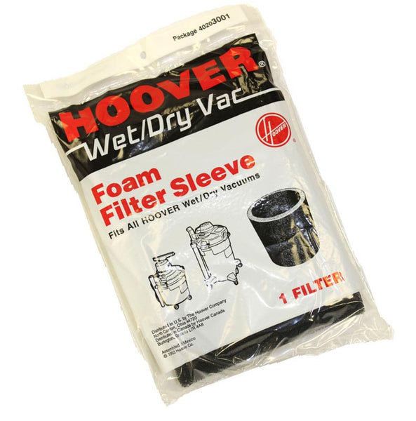 Hoover Filter, Foam Sleeve Fits All Wet & Dry 1pk, 40203001