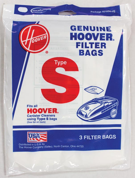 Hoover Paper Bag, Type S Can    Spectrum/futura  3pk, 4010064S
