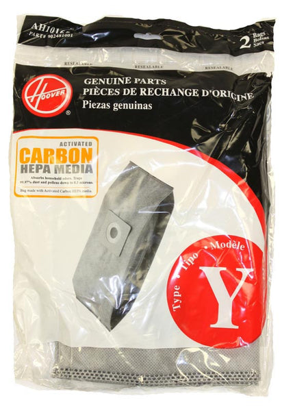 Hoover Paper Bag, Type Y Carbon Activated 2pk, AH10165