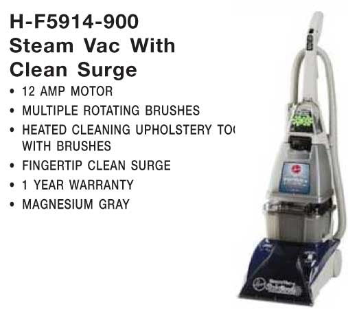 Hoover Extractor, Steam Vac W/clean Surge 20' Cord 8' Hse, F5914900