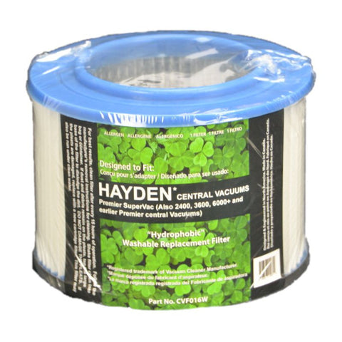 Hayden Filter, Washable,hayden Central Vacuum, FX-CVF016W FX-CVF016W