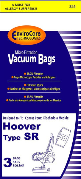Hoover Paper Bag, Type Sr Duros Canister Micro Env 3pk, 325