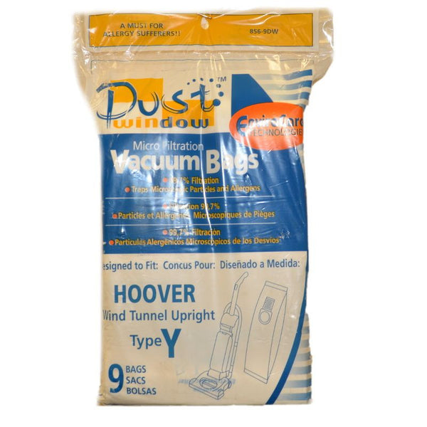 Hoover Paper Bag, W/dirt Window Type Y 9pk, 856-9DW 856-9DW