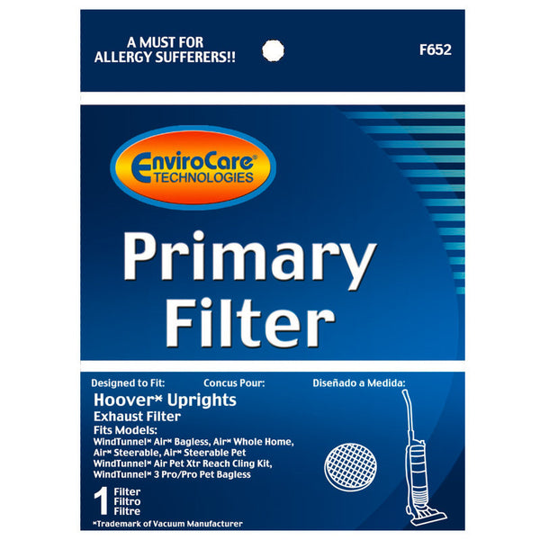Hoover Filter,  Primary Exhaust Windtunnel Uh70400, F652