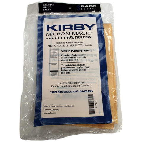 Kirby Paper Bag, Style G4/g5   3pk, 197294S