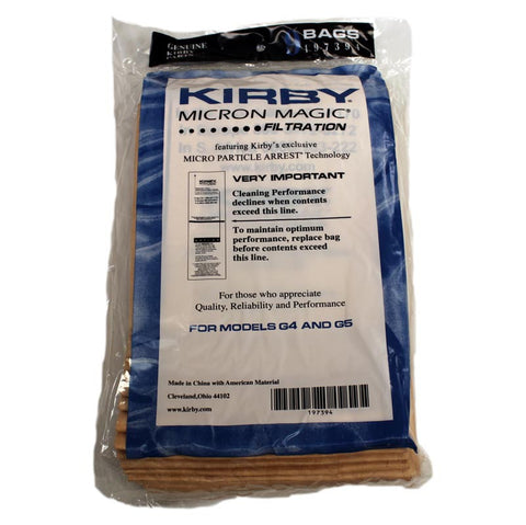 Kirby Paper Bag, Style G4/g5 9pk, 197394A