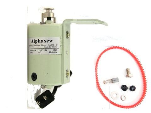 Alphasew Sewing Machine Motor White 110V 0.90A 7000RPM 90W NA35L