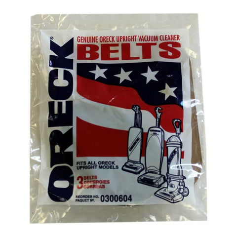 Oreck Belt, Oreck Upright Flat 3 Pk, 030-0604