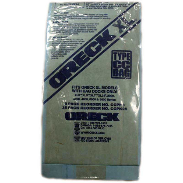 Oreck Paper Bag, Oreck Type Cc Uprights W/bag Dock 25 Pk, CCPK25