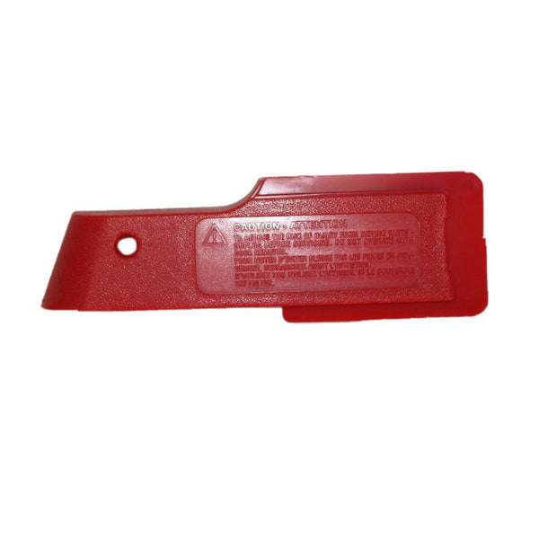 Oreck Belt Cover, Nozzle Cover Side Red, 75057-01-444 75057-01-444