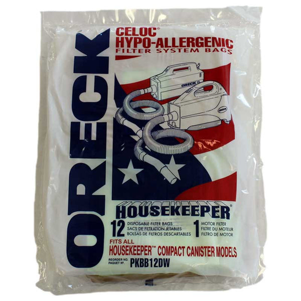 Oreck Paper Bag, Buster B/housekeeper Canisters 12pk, PKBB12DW