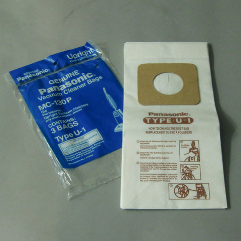 Panasonic Paper Bag, Pana Type U1  Upright 655/658  3pk, MC-130P