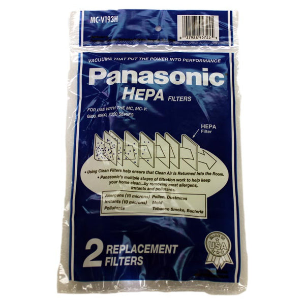 Panasonic Filter, Hepa Type V6800/ V6900/v7300 Series 2pk, MC-V193H