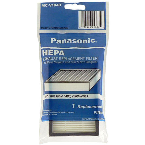 "Panasonic Filter, Hepa Ul671 Ul675 4""x6"" 86889 5400 7500 Srs, MC-V199H"