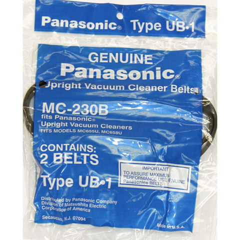 Panasonic Belt, Flat Type Ub1 2pk Mc655 Mc658 E417, MC230B