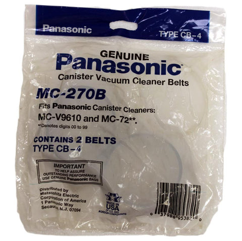 Panasonic Belt, Canister Flat Type Cb4 9610 2pk, MC-270B