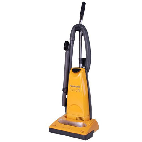 "Panasonic Vac, Upright Vacuum 12a 12"" 25' Cord Platinum Yllw, MC-UG502"