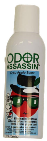 1500 sprays Odor Assassin - Crisp Apple Scent - large 6 oz size - MonsterVacuum.com