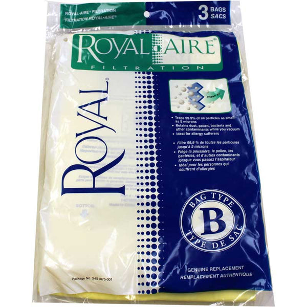 Royal Paper Bag, Royal Type B  Upright Micro Fresh 3pk, 3671075001
