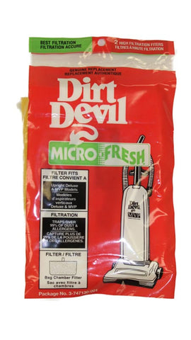 Royal Filter, Micro Fresh Dirt Devil Upright 2pk, 3747130001
