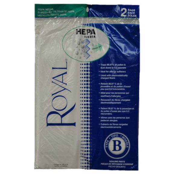 Royal Paper Bag, Style B Hepa Cloth 2pk, AR10110 AR10110