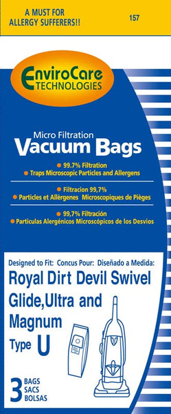 Royal Paper Bag, Royal Type U  Microfilter Env 3pk, 157