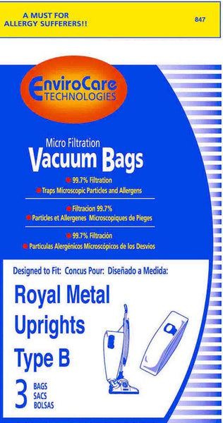 Royal Paper Bag, Type B Metal Upright Micro Env 3pk, 847