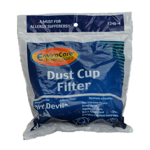 Royal Filter, Royal Dirt Devil F4, F248 F248-4 Dust Cup Filter - 4 in a Package