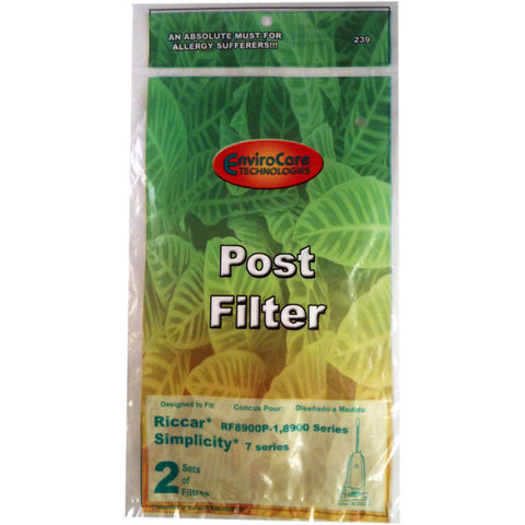 Riccar/Simplicity Filter,  8900 7200 7300 7350 7400 2 Sets Of Filt, 239