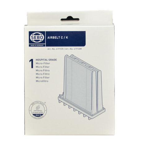 SEBO Filter, Micro/hospital Grade For C Series, 6191AM 6191AM