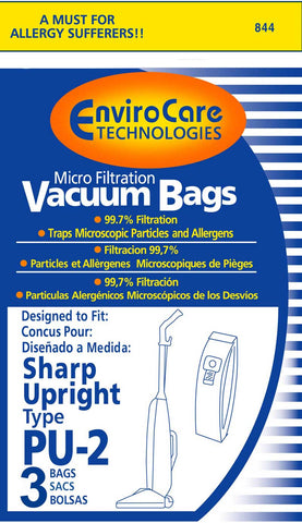 Sharp Paper Bag, Sharp Type Pu2 Micro W/closure Env 3pk, 844