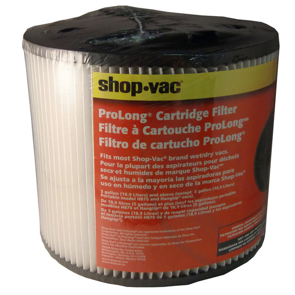 "Shop Vac Filter, Cartridge Wet/dry 6"" Tall 7 1/2"" Wide, 90304-00"