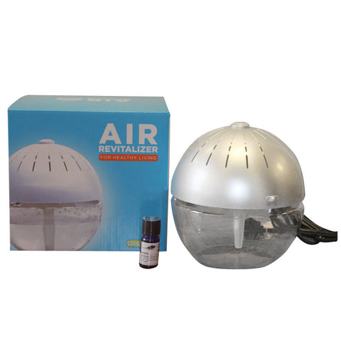 Air Cleaner & Revitalizer - Silver Earth Globe Aroma Fragrance Therapy 75606 - MonsterVacuum.com
