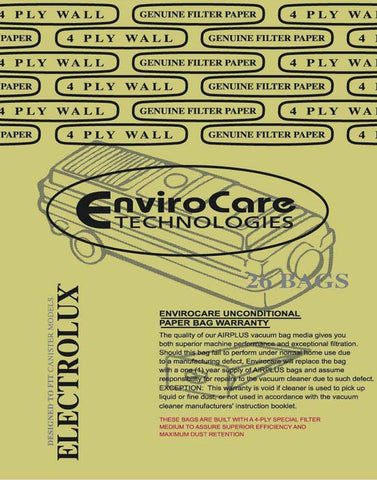 Electrolux C Vacuum Bags For Canister 26 Pack 805-26FP