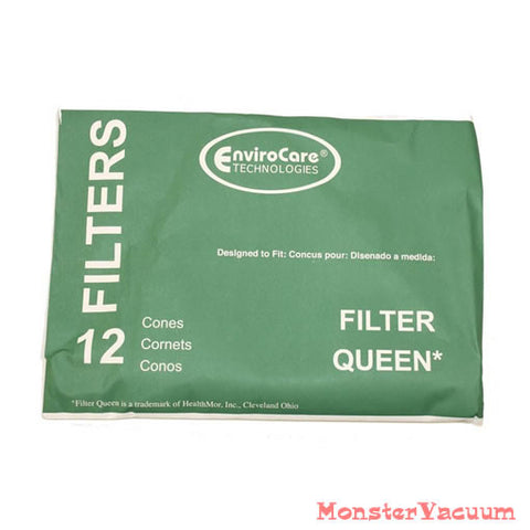Filter Queen Filter Cones 12pk with 2 Motor Guards 200