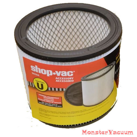 Genuine Shop Vac Filter 90304, Type U OEM ShopVac - Wet Dry approved - fits most 90304-00
