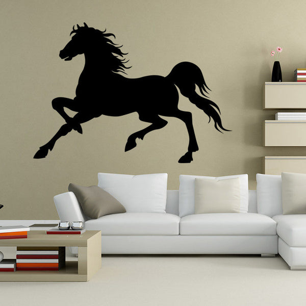 Majestic Horse Silhouette Self Adhesive Wall Art Decal