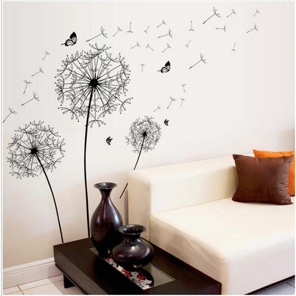 Making Wishes Dandelions & Butterflies decorative mural-style wall sticker