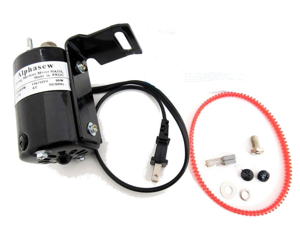 Alphasew Sewing Machine Motor Black 110V 0.90A 7000RPM 90W NA35L
