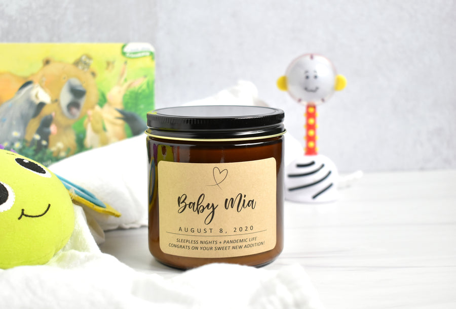 Custom Soy Candle - Choose Scent + Message