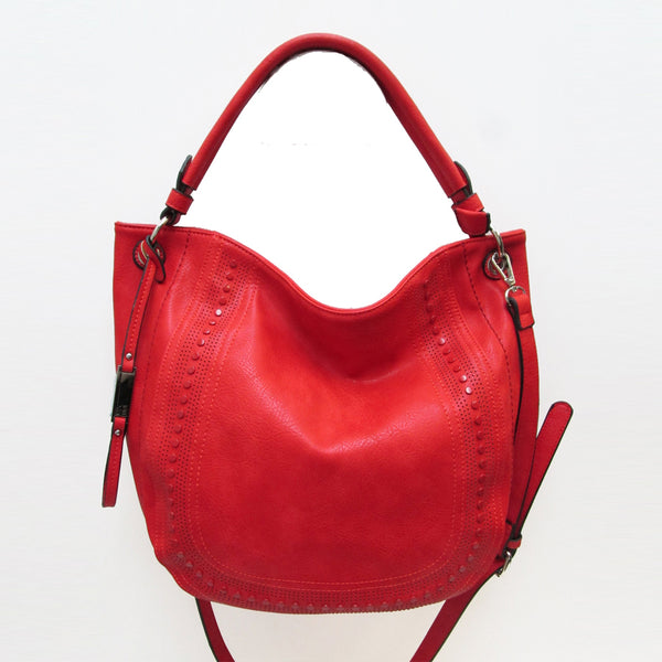 AS4032- Tonal Studded Shoulder Bag