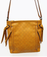 W6716- Knotted Perforation Crossbody