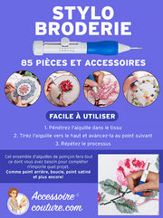 SewBroderie™ - Pack stylo broderie 85 pièces