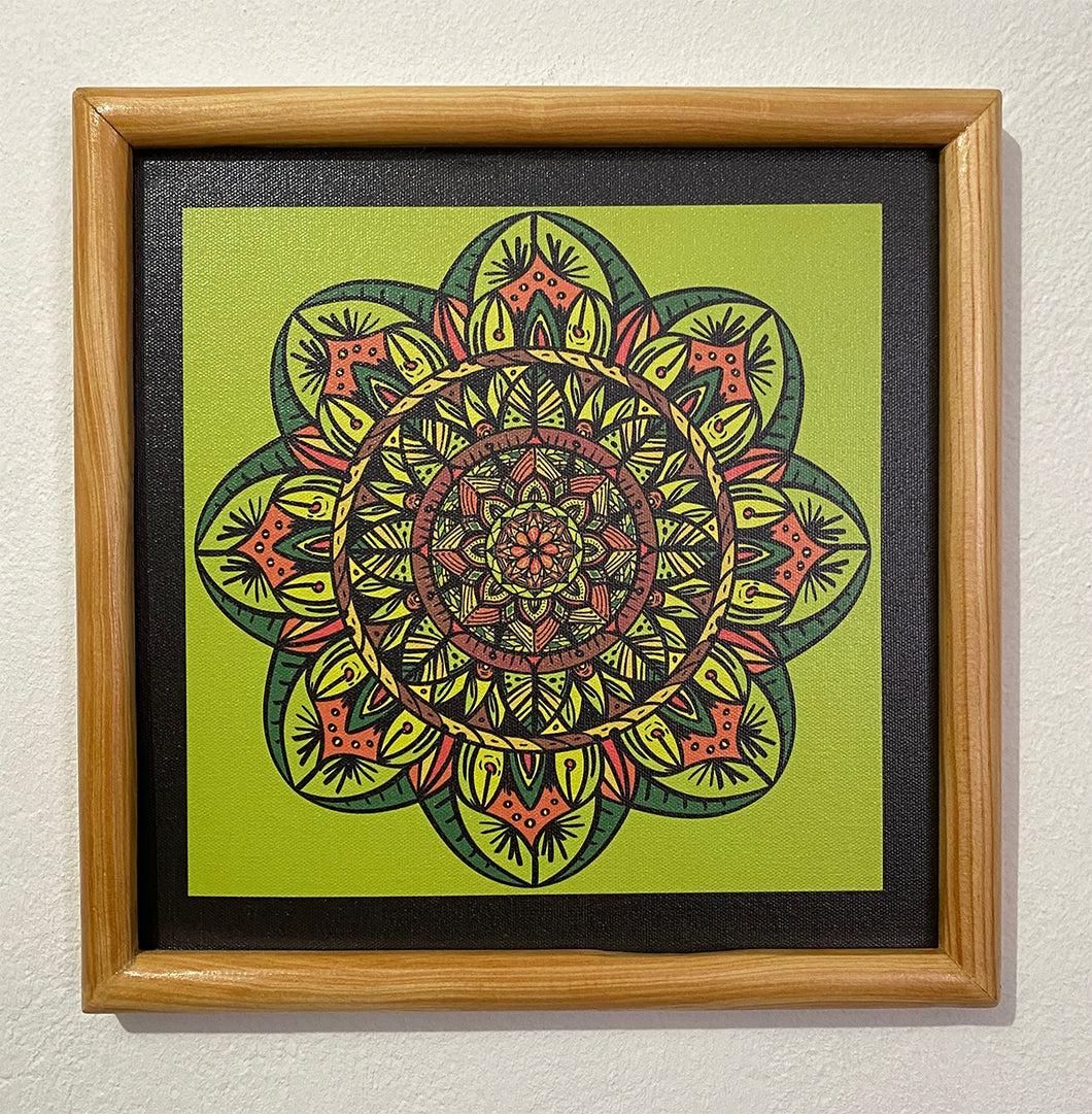 Cuadro Mandala impreso en Canvas | Tropic Jungle