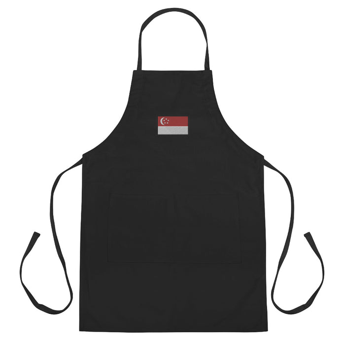 Singapore Embroidered Apron
