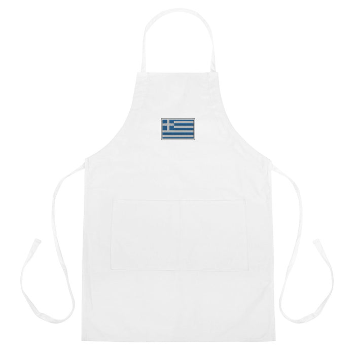 Greece Embroidered Apron
