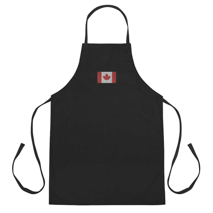 Canada Embroidered Apron