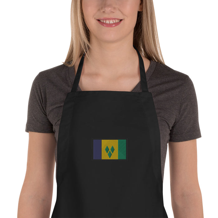 St.-Vincent-Grenadines Embroidered Apron