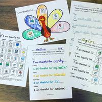 Thanksgiving Thankful Turkey Craft and Journal (differentiated)